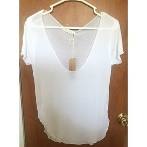 ⚡️Jella Couture | Sheer White Tee | Size Small